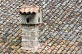 Free Chimney And Roof Of Bent Tiles Stock Photo - 24637950