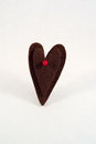 Free Double Felt Heart With Red Pearl Stock Photos - 24638403