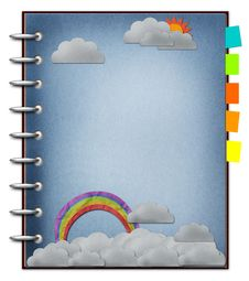 Free The Art Of Rainbow And Cloud. Royalty Free Stock Photography - 24630917