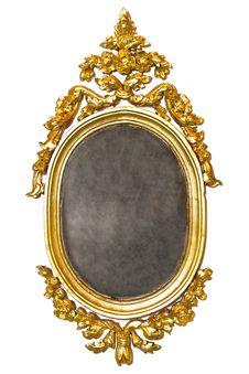 Free Retro Old Gold Frame Stock Image - 24635911