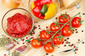 Free Ingredients For Making Tomato Sauce Stock Photography - 24641652