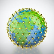 Free Earth In Golden Cage Stock Photos - 24640063