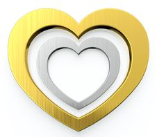Free Two Hearts Stock Photography - 24640402
