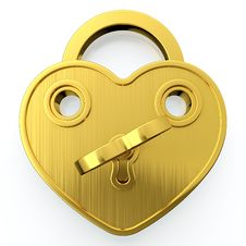 Golden Padlock Royalty Free Stock Image