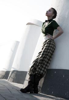 Free Sensual Fashion Model Girl Posing Over Urban Scene Stock Photos - 24641843