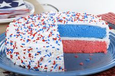 Free Patriotic Cake Royalty Free Stock Images - 24648239