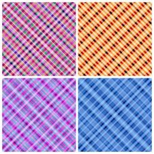 Set Of 4 Seamless Pinstripe Pattern. Stock Photos