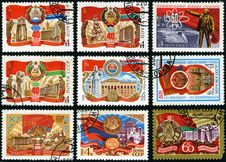 Free 60 Years Of Soviet Socialist Republics Royalty Free Stock Images - 24650899