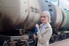 Free Girl With Motion Train Royalty Free Stock Photography - 24651247