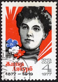 Free Portrait Jeanne Labourbe. USSR Stamp Royalty Free Stock Image - 24652596