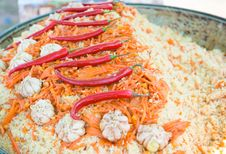 Free East Dish. Pilau. Royalty Free Stock Photo - 24652685