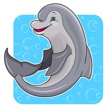 Free Cartoon Dolphin Stock Photos - 24653323