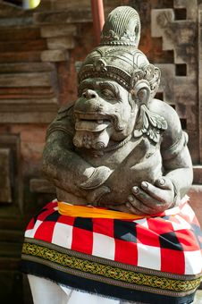 Statue Of Balinese Demon Stock Photography