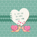 Free Cute Love Card - For Valentine&x27;s Day Royalty Free Stock Photos - 24663908