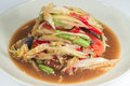 Free Som Tum, Thai Papaya Salad Royalty Free Stock Image - 24664646