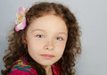 Free Portrait Of Cute Little Girl Stock Images - 24664774