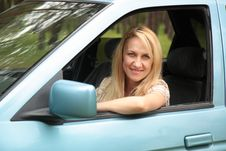 Free Smiling Young  Woman In The Car Stock Images - 24660674