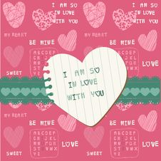 Free Cute Love Card - For Valentine S Day Royalty Free Stock Photo - 24663835