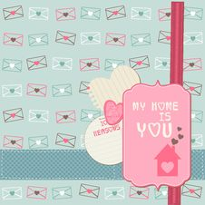 Free Cute Love Card - For Valentine S Day Stock Images - 24663854