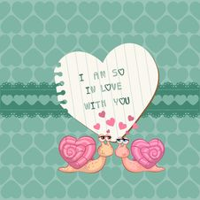 Free Cute Love Card - For Valentine S Day Royalty Free Stock Photos - 24663908