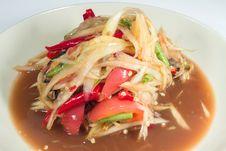 Free Som Tum, Thai Papaya Salad Stock Images - 24664714