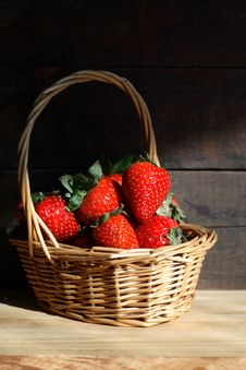 Free Basket With Strawberries Royalty Free Stock Photography - 24665057