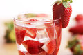 Free Cold Drink With Strawberries Stock Photography - 24670902