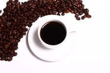 Free Cup Of Black Hot Coffe Stock Images - 24670844