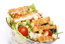 Free Healthy Salad With Chicken And Vegetables Stock Photos - 24670943