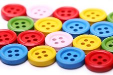Free Many Colorful Buttons Stock Photography - 24670962