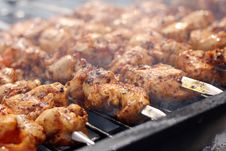 Free Fresh Meat Prepared On Fire Royalty Free Stock Photos - 24671008