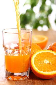Free Fresh Orange Juice Stock Photography - 24671072