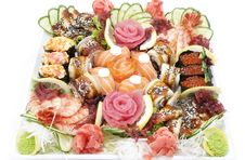 Japanese Sushi Fish And Seafood Royalty Free Stock Photo