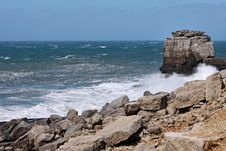 Free Stormy Seas On The Dorset Coast Royalty Free Stock Images - 24676129