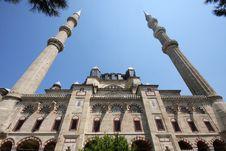 Turkey Mosque Selimiye Stock Photo