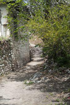Free Dusty Roads In Empty  Old Village Stock Photo - 24678880