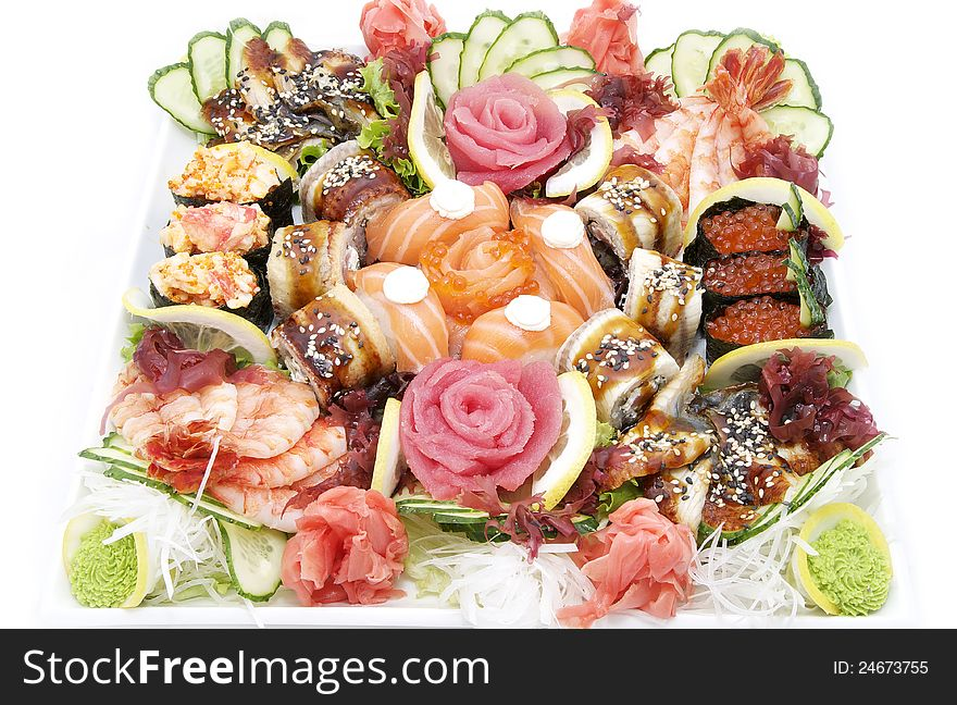 Japanese sushi fish and seafood