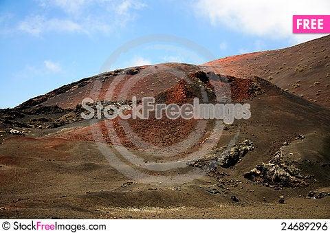 Free Volvanic Landscape Royalty Free Stock Image - 24689296