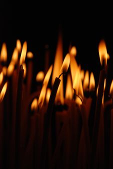 Free Burning Candles Royalty Free Stock Image - 24681256