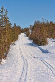 Ski Track Cross-country Skiing Stock Photography
