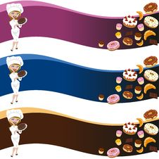 Free Female Pastry Background Royalty Free Stock Image - 24685116