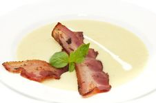 Free Pea Soup And Bacon Royalty Free Stock Photo - 24687275