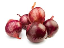 Free Five Red Onions Stock Photos - 24687983