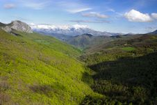 View Of The Valley From Piedras Luengas Viewpoit Royalty Free Stock Photos