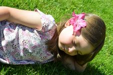 Free Daydreaming Child Stock Image - 24689441