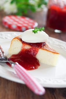 Cottage Cheese Cake Stock Images