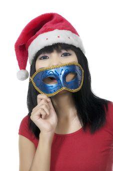 Free Christmas Mask Royalty Free Stock Photo - 24691885