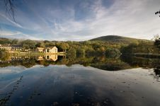 Free House Reflection Mossley Stock Photo - 24693440