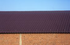 Wall, Roof And Sky. Stock Image