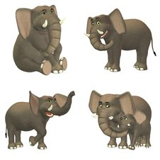 Free Elephant Pack Royalty Free Stock Images - 24697799
